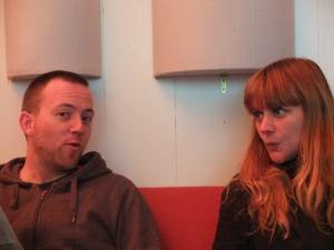 Trummer & Nadja Stoller probieren ein Arrangement aus